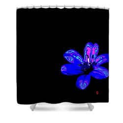 Night Blue Shower Curtain by Richard Patmore