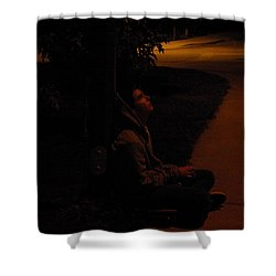 Night Boy Shower Curtain