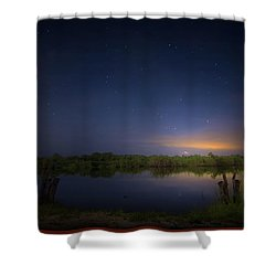 Night Brush Fire In The Everglades Shower Curtain