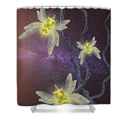 Night Butterflies Shower Curtain