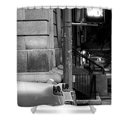 Shower Curtain featuring the photograph Night Caddy by Dave Beckerman
