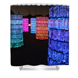 Night Color Shower Curtain by Natalie Ortiz