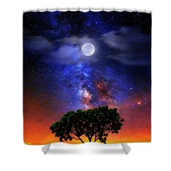 Night Colors Shower Curtain by Justin Kelefas