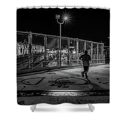 Night Commute  Shower Curtain