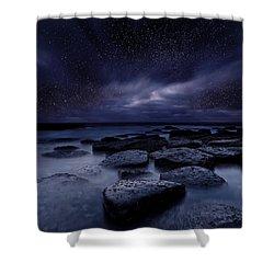 Night Enigma Shower Curtain
