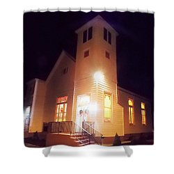 Night Exterior Shower Curtain