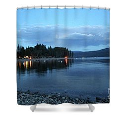 Shower Curtain featuring the photograph Night Fall by Victor K