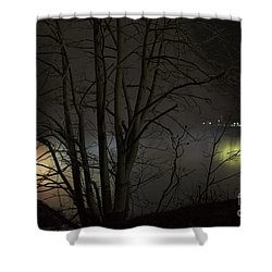 Night Falls Shower Curtain by Judy Wolinsky