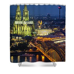 Night Falls Upon Cologne 1 Shower Curtain