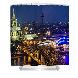 Night Falls Upon Cologne 2 Shower Curtain