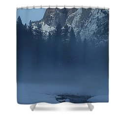 Shower Curtain featuring the photograph Night Falls Upon Half Dome At Yosemite National Park by Jetson Nguyen