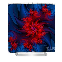 Night Fire Shower Curtain by Jutta Maria Pusl