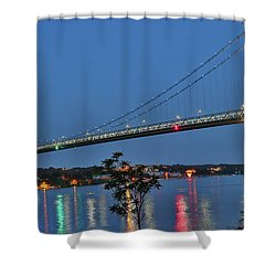 Night Flights Shower Curtain