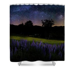 Night Flowers Shower Curtain by Bill Wakeley