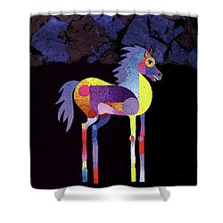 Night Foal Shower Curtain