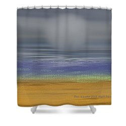 Night Fog On The Beach Shower Curtain