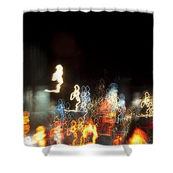 Night Forest - Light Spirits Limited Edition 1 Of 1 Shower Curtain