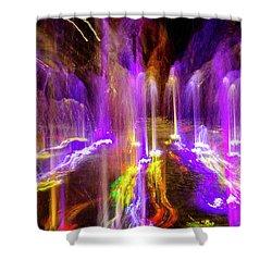 Night Fountain  Shower Curtain