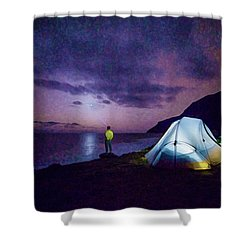 Night Gazer Shower Curtain