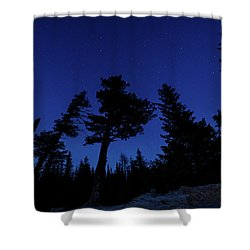 Night Giants Shower Curtain