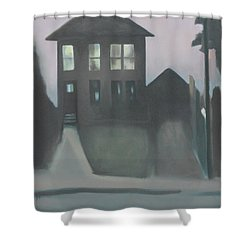 Night Glow Shower Curtain by Ron Erickson
