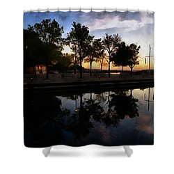 Night Harbour Shower Curtain