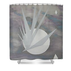 Shower Curtain featuring the painting Night Hawke II by J R Seymour