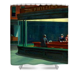 Night Hawks Shower Curtain by Edward Hopper