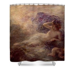 Night Shower Curtain by Ignace Henri Jean Fantin Latour