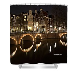 Night In Amsterdam Shower Curtain