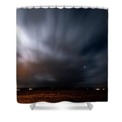 Shower Curtain featuring the photograph Night In Iceland by Dubi Roman