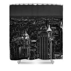 Night In Manhattan Shower Curtain