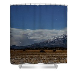 Shower Curtain featuring the photograph Night In The Alvord Desert by Cat Connor