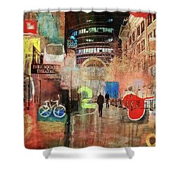 Shower Curtain featuring the photograph Night In The City by Susan Stone