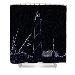 Night Light - Digital Art Shower Curtain