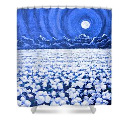 Night Light Shower Curtain by Jeanette Jarmon