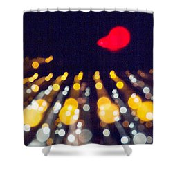 Shower Curtain featuring the photograph Night Lights During A Party by Odon Czintos