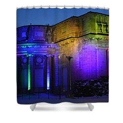 Night Lights Niagara Shower Curtain