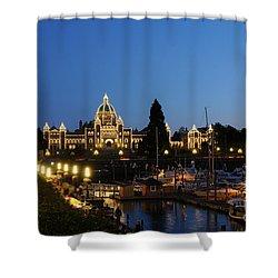 Night Lights On Victoria Harbor Shower Curtain