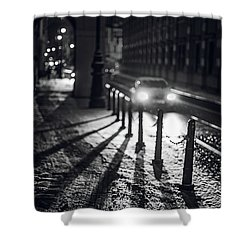 Shower Curtain featuring the photograph Night Lights. Prague by Jenny Rainbow