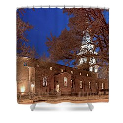 Night Lights St Anne's In The Circle Shower Curtain