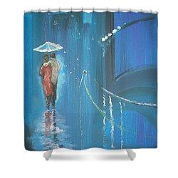 Night Love Walk Shower Curtain
