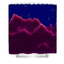 Night. Moon Shower Curtain by Dr Loifer Vladimir