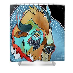 Night Moves Shower Curtain