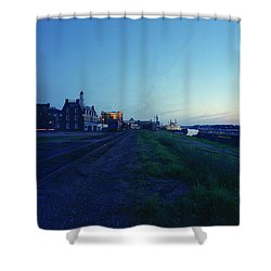 Night Moves On The Mississippi Shower Curtain by Jan W Faul