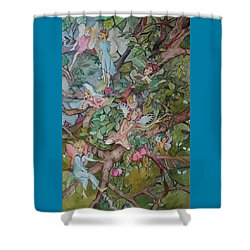 Night Night Shower Curtain by Claudia Cole Meek