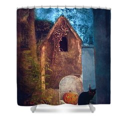 Night Of Halloween Shower Curtain