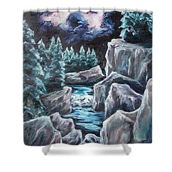 Night Of Stars Shower Curtain by Cheryl Pettigrew