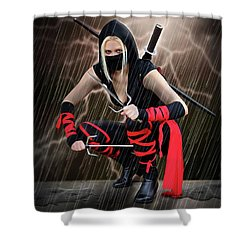 Night Of The Ninja Shower Curtain
