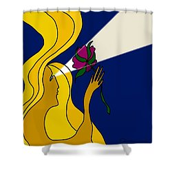 Night Offering Shower Curtain